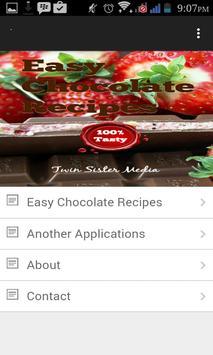 Easy Chocolate Recipes apk screenshot
