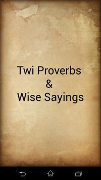 Twi Proverbs : ghana proverbs poster