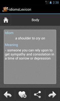 idiomsLexicon - English Idioms apk screenshot