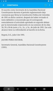 Constitución de Colombia apk screenshot