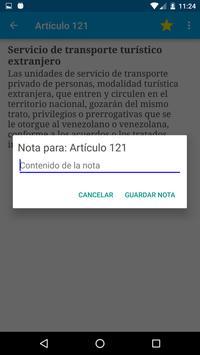 Ley de Tránsito Venezuela apk screenshot