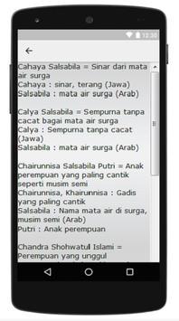 Nama Bayi Modern Dan Islami apk screenshot