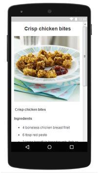 Snacks for kids recipes apk screenshot