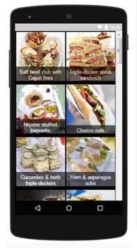 Sandwich Recipes For Dinner apk screenshot