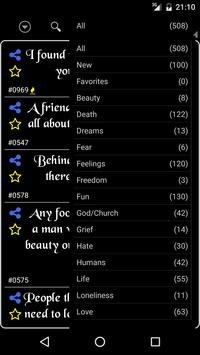 Melancholic Quotes apk screenshot