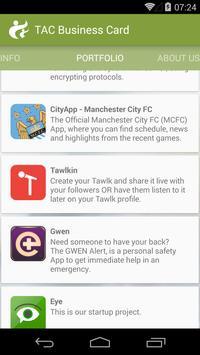 TAC Business Card apk screenshot