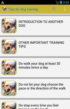 improve your dog training apk screenshot