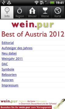 wein.pur Best of Austria 2012 poster