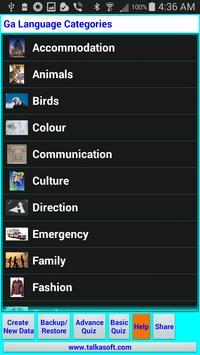 Learn to speak Ga language apk screenshot
