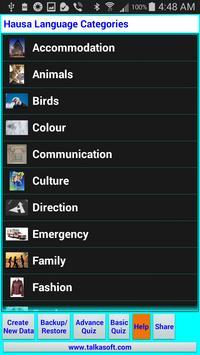 Learn to Speak Hausa Language apk screenshot