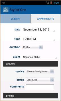 Stylist One Client Management apk screenshot