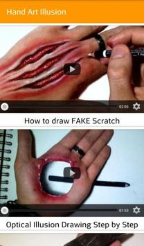 Hand Art Illusion poster