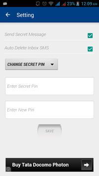 Secret SMS apk screenshot