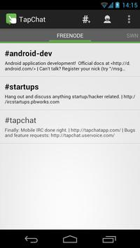 TapChat IRC Client poster