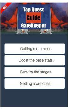 Tap Quest Guide Gate Keeper apk screenshot