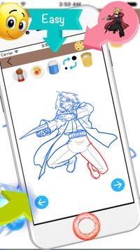 how to draw anime apk screenshot