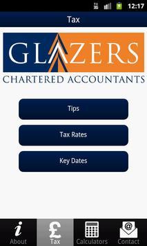 Glazers Chartered Accountants poster