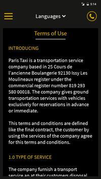 Taxi in Paris Car Booking App apk screenshot