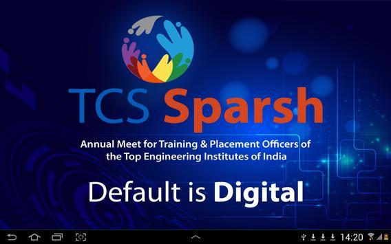TCS Sparsh 2015 poster