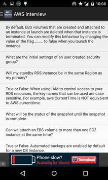 AWS Interview questions apk screenshot