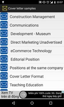 Cover letter samples apk screenshot