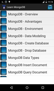 Learn mongoDB poster