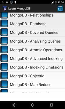 Learn mongoDB apk screenshot