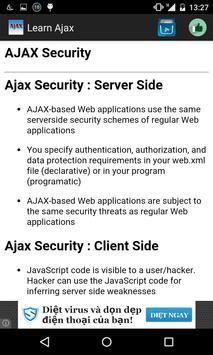 Learn Ajax apk screenshot