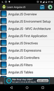 Learn AngularJS offline poster
