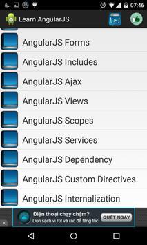 Learn AngularJS offline apk screenshot