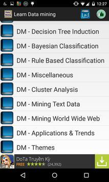 Learn data mining apk screenshot