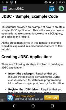 Learn jdbc apk screenshot