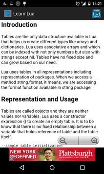 Learn Lua apk screenshot