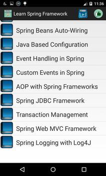 Learn Spring apk screenshot