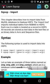 Learn Sqoop apk screenshot