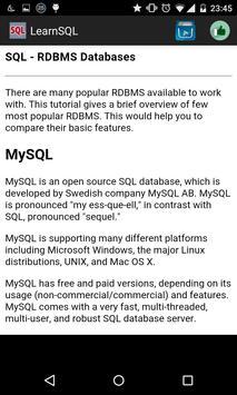 Learn SQL Offline poster