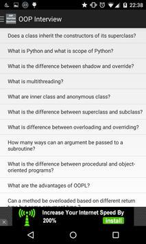 OOP interview questions poster