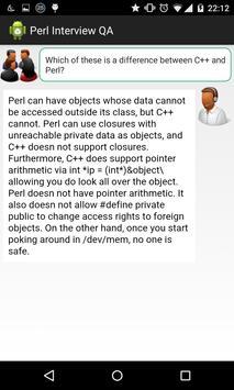 Perl Interview Questions apk screenshot