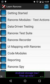 Learn Ranorex testing poster