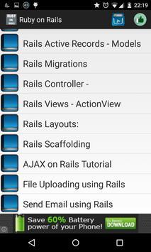 Ruby on rails offline apk screenshot