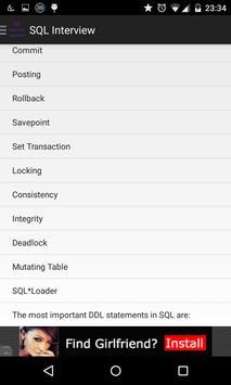 SQL Interview Q&A apk screenshot