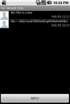Trial GV Secure Text apk screenshot