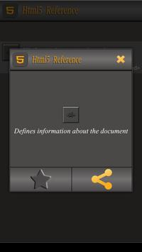 Html5 Tags Reference apk screenshot