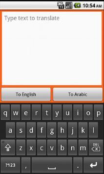 Arabic Translator apk screenshot