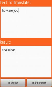 Indonesian Translator apk screenshot