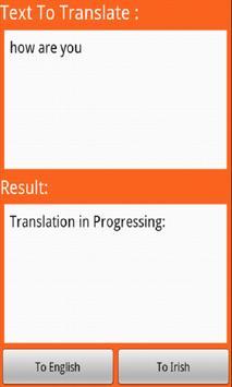 Irish Translator apk screenshot