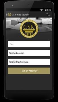 CSK Legal App apk screenshot