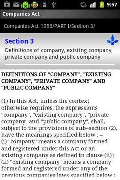 COMPANIES ACT 1956 apk screenshot