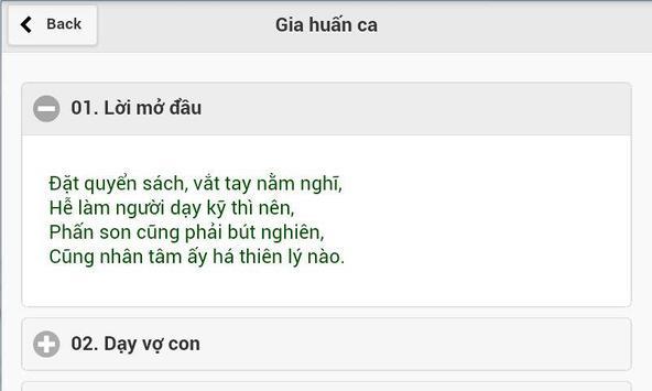 Gia Huấn Ca-Nguyễn Trãi apk screenshot