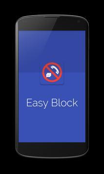 Easy Block Call & SMS Blocker poster